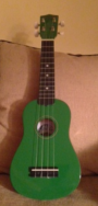 Photo of a green ukelele